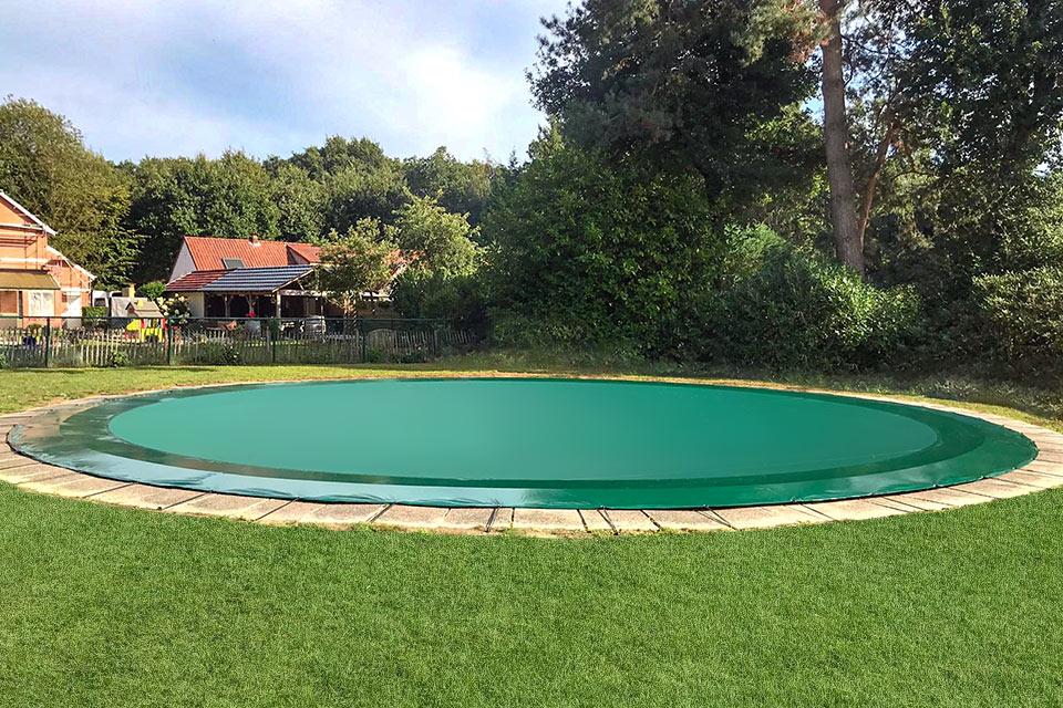 zwembadzeil op maat rond